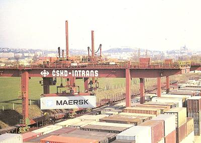 Vzhled překladiště v roce 1992